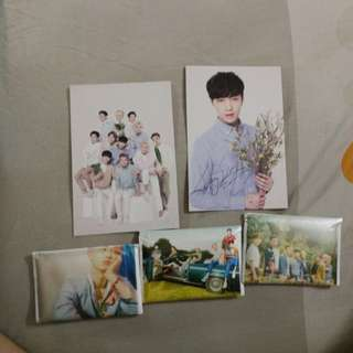 EXO LAY AND GROUP NATURE REPUBLIC POSTCARDS