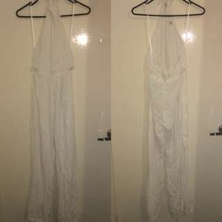 AVERY THE LABEL HALTER NECK JUMPSUIT BNWT