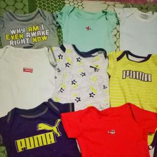 Pre-loved Baby Boy Onesies. Take all 12 with one swaddle free for only Php 800!