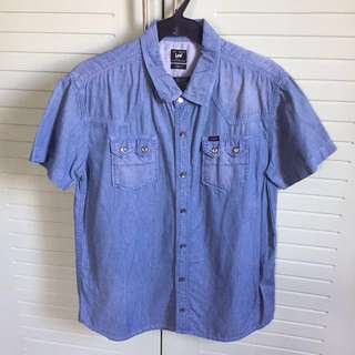 !REPRICED! Men's Wrangler Denim Polo Short Sleeves