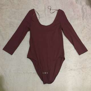 Monki burgundy bodysuit