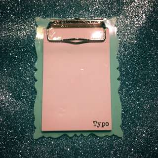 Typo Magnetic Notepad with Clipboard small