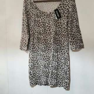 Esmara Leopard Print Dress - Never Been Used. Great for a  smart casual look or even for parties! Size: Large