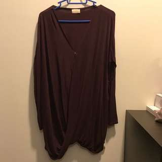 Poplook Maternity Blouse Red Wine