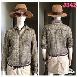 J342全新韓版BF雪紡小碎花襯衫floral pattern chiffon shirt J-Lounge