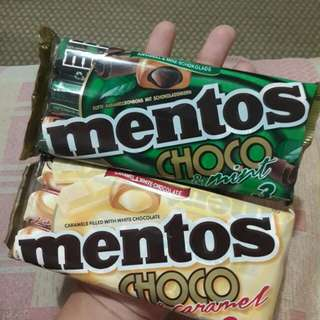 Mentos choco caramel and choco mint- SOLD PER STICK/ROLL