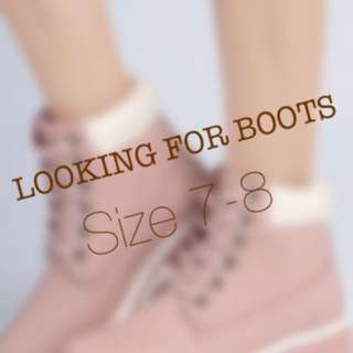 Looking for Boots