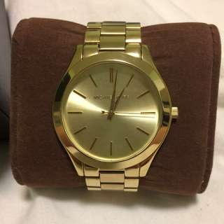 Michael Kors Slim Runway Gold-Tone Stainless Steel Watch