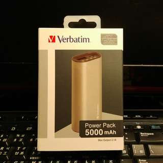 🈹 (全新 New) Verbatim Power Pack 5000mAh (Max Output 2.1A) HK$70 > HK$65