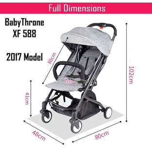 5 Free Items Now. Lifetime Warranty. Authorised Dealer. 2017 Babythrone Stroller: Bigger and longer Seat.  1sec open, one hand operation. Until 6 years old