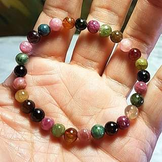Multi-color Tourmaline bracelet [Natural Crystal]