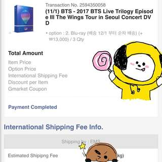 BTS LIVE TRILOGY EPISODE III THE WINGS TOUR IN SEOUL DVD/BLU-RAY