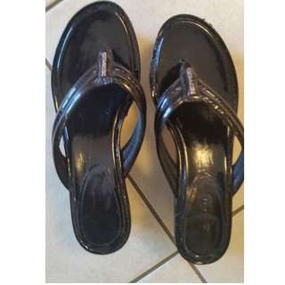 Coach Wedge Flip-Flops - Almost new!  - Size 8