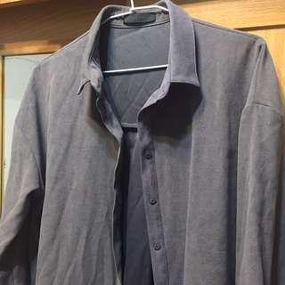 MEIER.Q 長板外套 紫灰色 #外套特賣