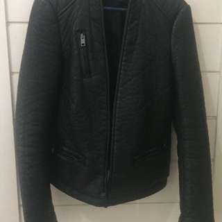 Zara leather jacket limited ed