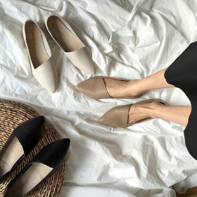 軟皮套腳懶人鞋(棕39)