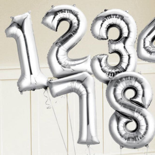 6MAILED BN SILVER FOIL BALLOON 21ST BIRTHDAY DECORATION On Carousell