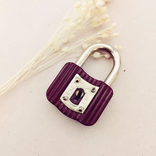 日本昭和時期老鎖頭,附鑰匙可開/復古古著
