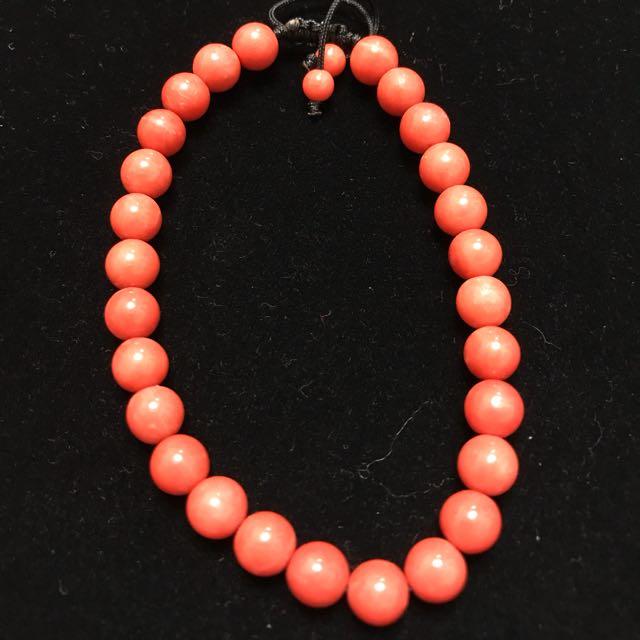 天然紅珊瑚手珠