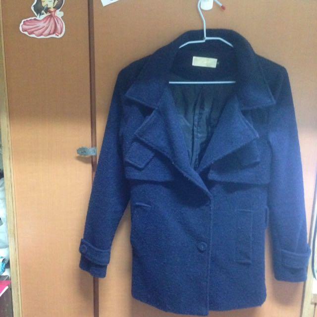 深藍保暖冬天外套 #外套特賣