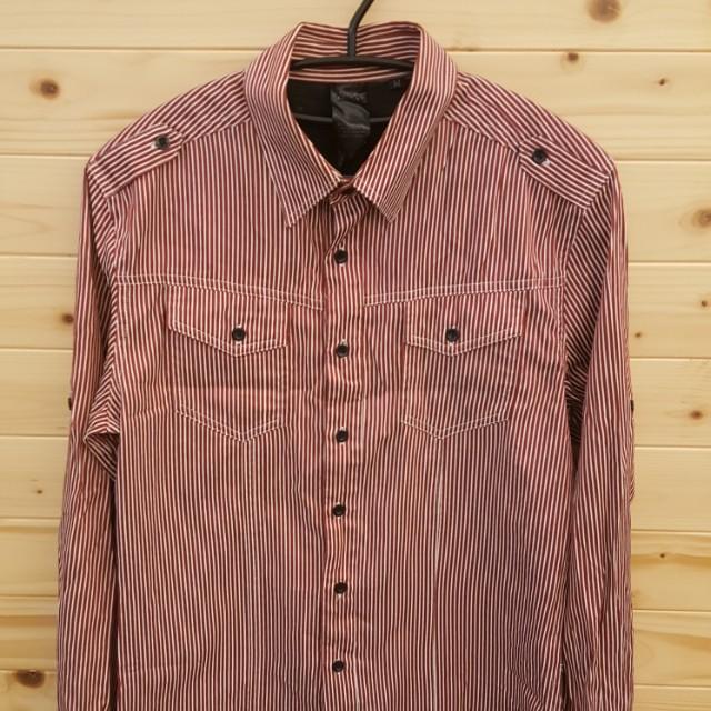條紋 襯衫 長袖