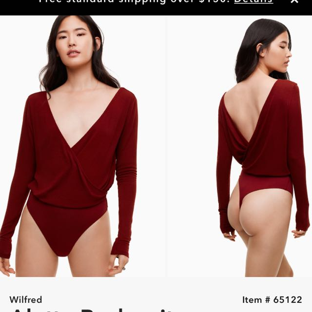 Aritzia Wilfred Alette bodysuit Brand New Sz Large