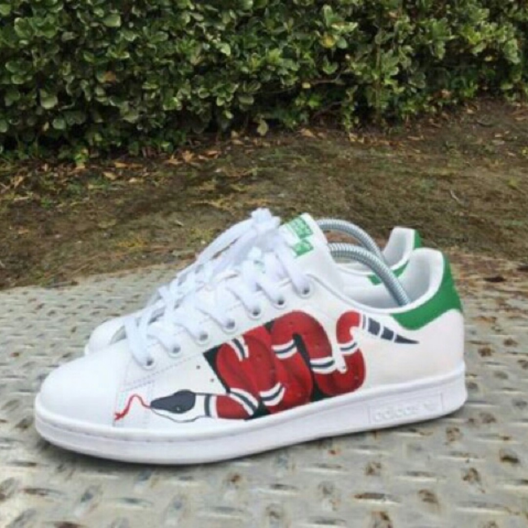 Authentic Adidas Stan Smith Gucci Snake Mens Fashion Footwear On Carousell