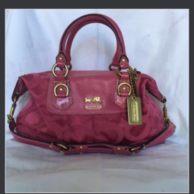 Authentic Pink Coach Bag with Gold Hardware