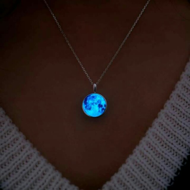AUTHENTIC WING BLING MOON NECKLACE