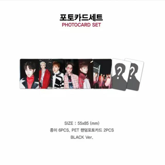 B1A4 (비원에이포) 7th Mini Album ROLLIN' Goods - OFFICIAL GOODS  Photocard Set (Black) / 포토카드세트 (블랙)