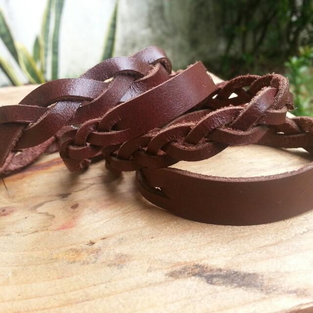 Braided Leather Bracelets - Handmade