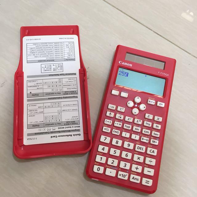 Calculator scientific Canon F-717SGA ( kalkulator )
