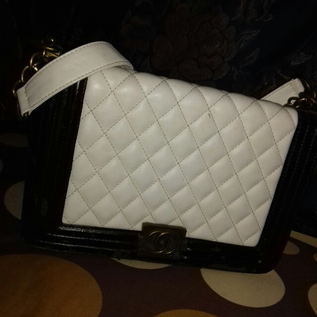Channel Bag Ori / Tas Black White