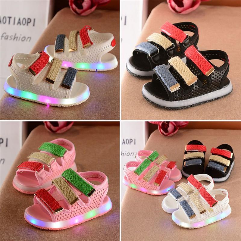 e5063159f9b4 Summer Child Cute Shoes Casual Kids Sandals LED Glow Children Beach ...