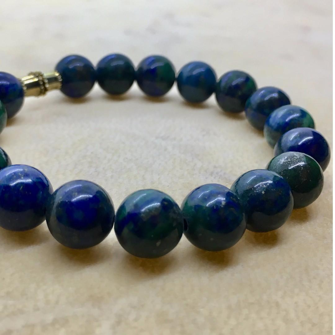 Chrysocolla Crystal Bracelet
