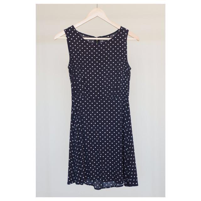 COTTON ON Sleeveless Polkadot Dress