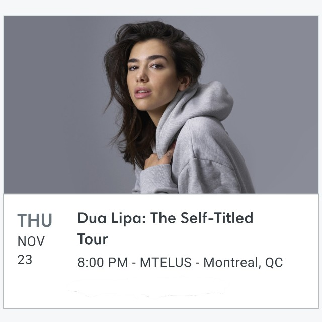 Dua Lipa Self-Titled Tour (MONTREAL)