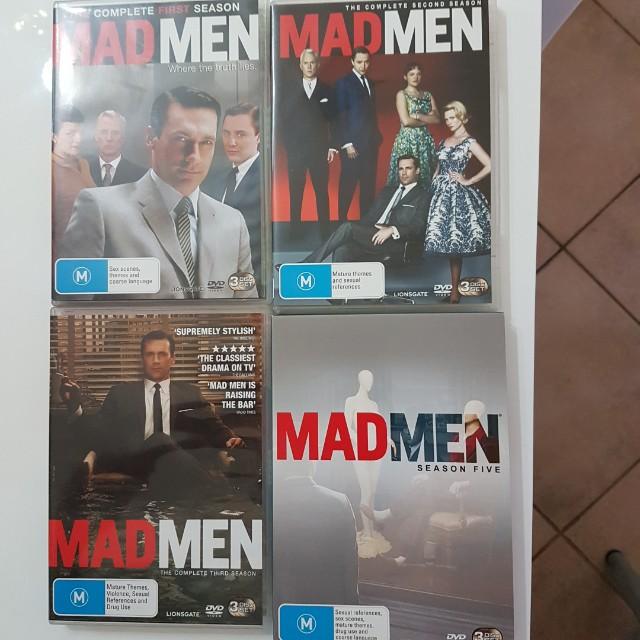 DVD Madmen Series 1, 2, 3 & 5