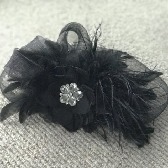 Elegant Black Head Accessory