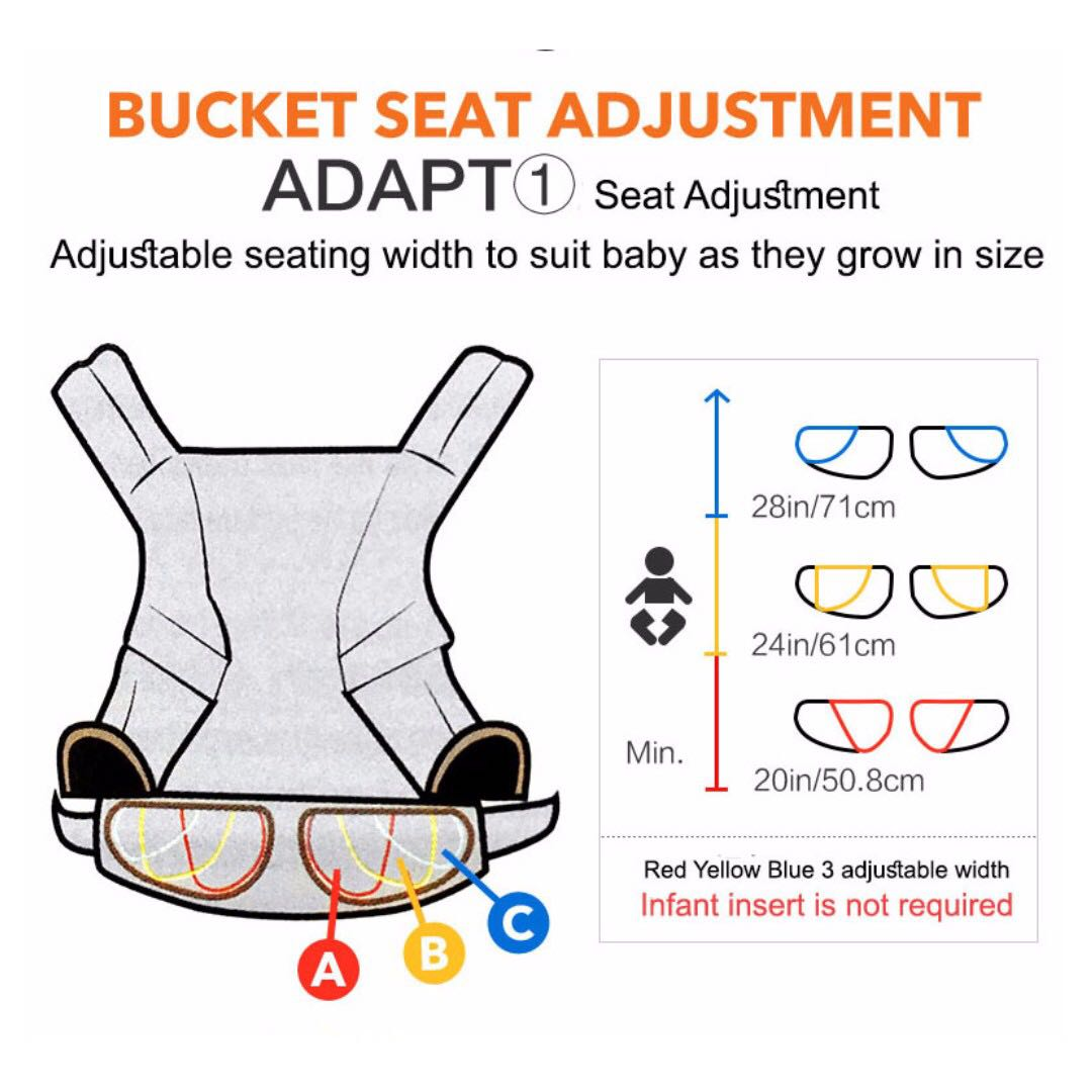 Image result for adjustable seat width in ergobaby adapt
