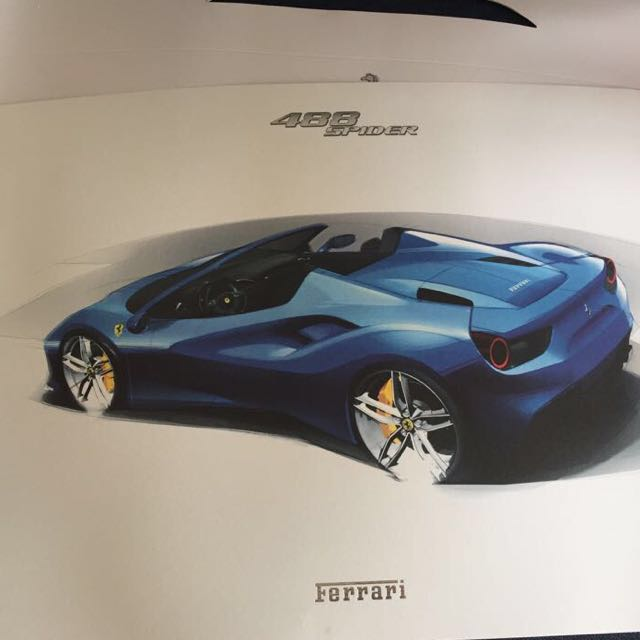 Ferrari 488 Spider Professional High Quality Print Out
