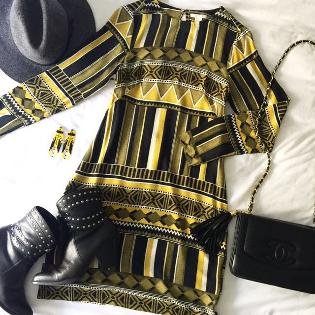 Fitted Tribal Print Dress