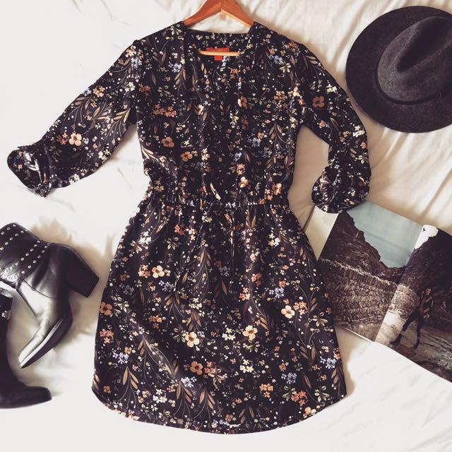 Floral Pop Over Dress