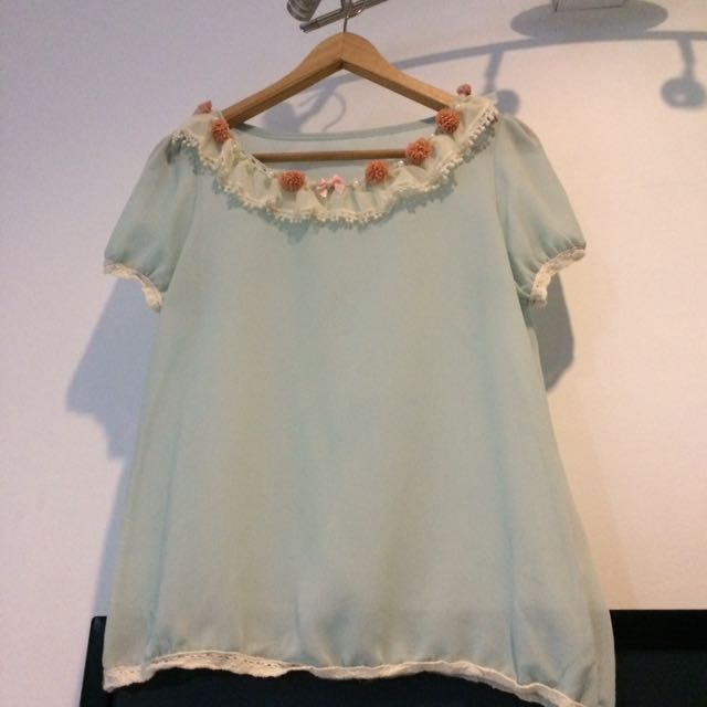 Flowers lace Top