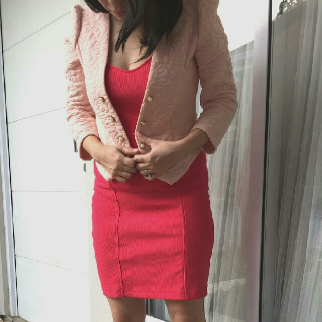 Forever 21 Dress / Terusan / Jaket Knit Quilted / Jacket Blazer