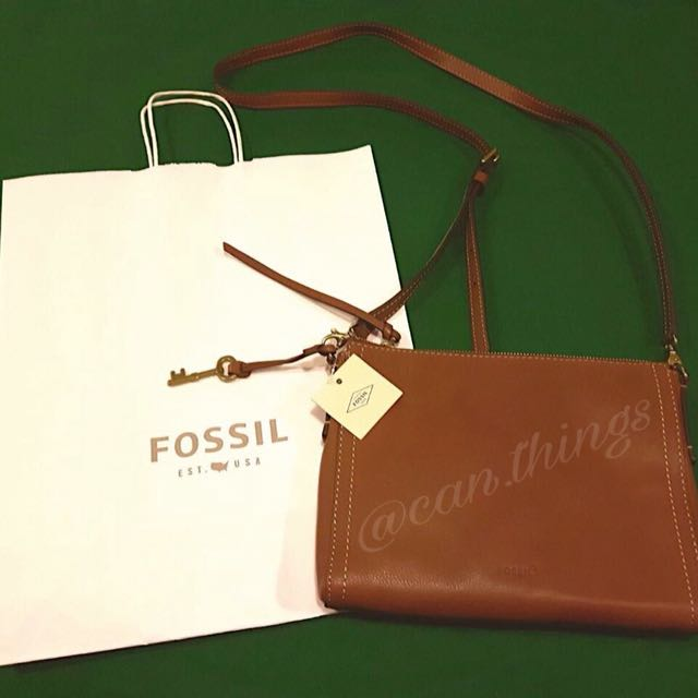 Fossil Bags Emma East West Brown
