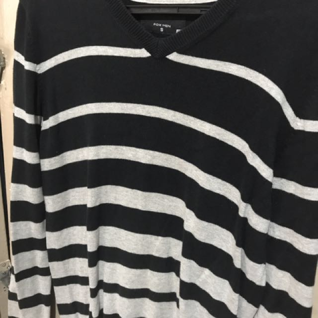 Fox Men SMALL Stripes Sweater