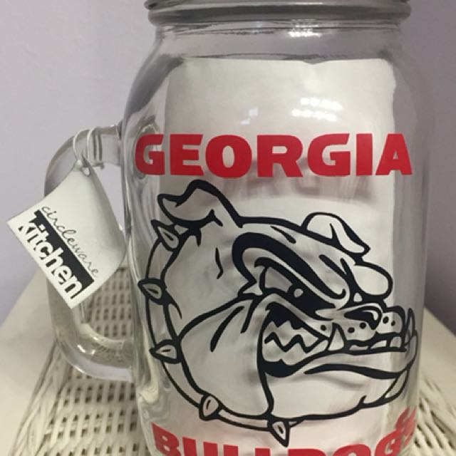 Georgia Bulldogs Mason Jar Beer Mug
