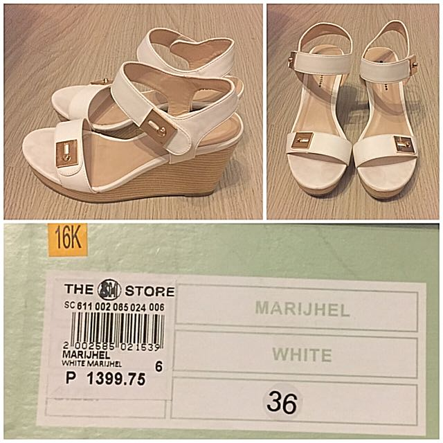 Gibi White Wedge Sandals