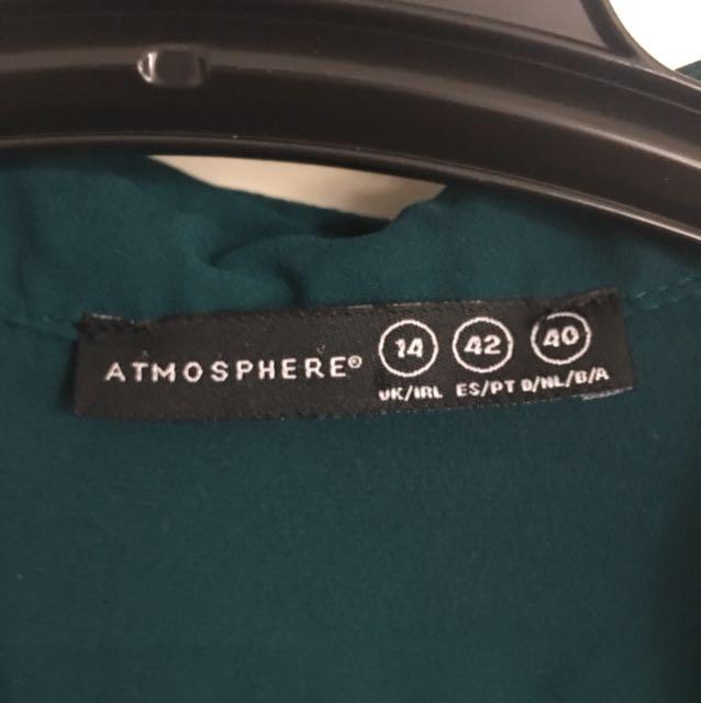Green work shirt